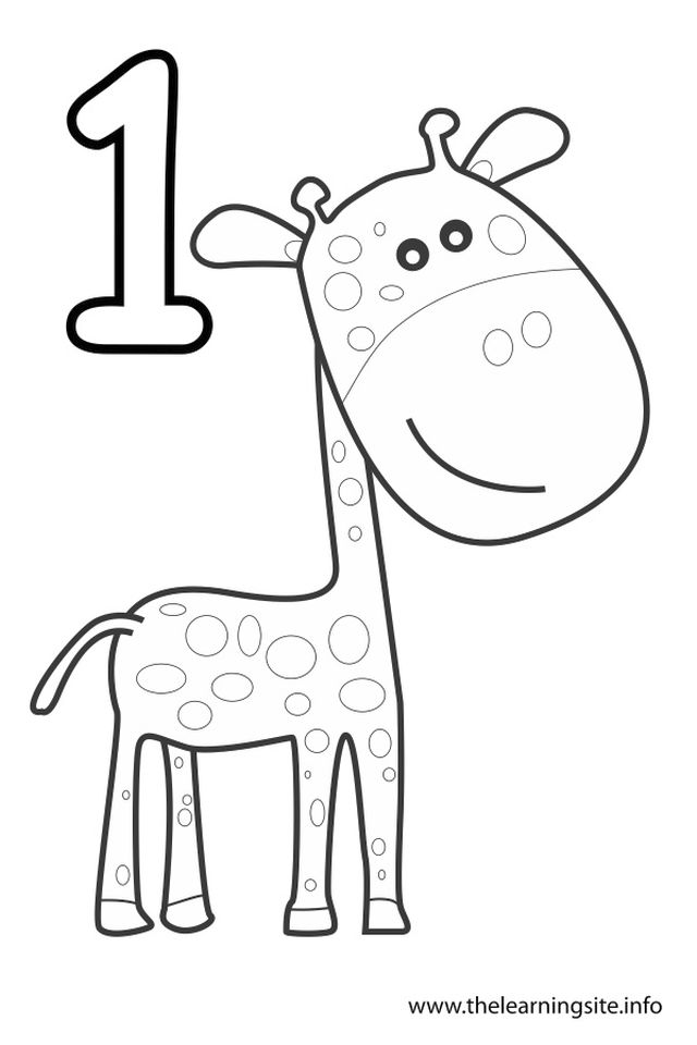 Number 1 Coloring Page - 16a74