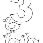 Number 3 Coloring Page - 3gs3a