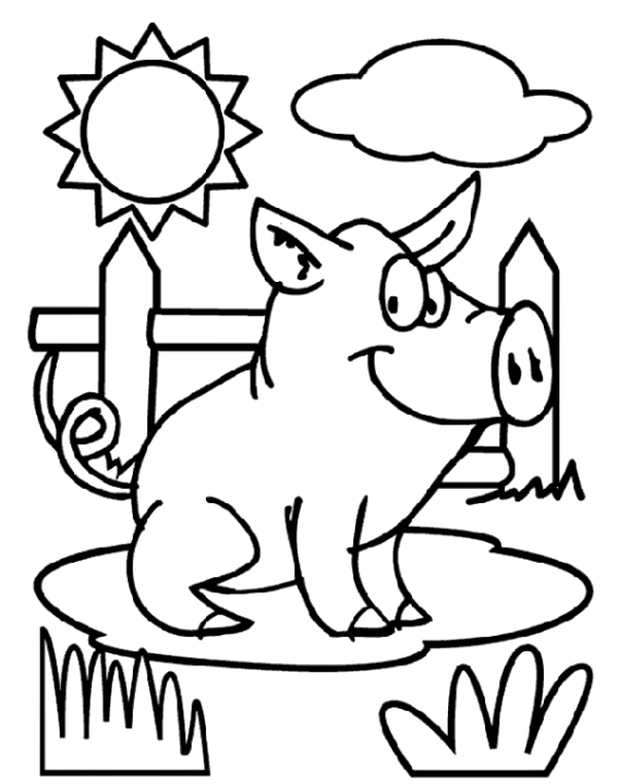 pig coloring pages to print out 72910