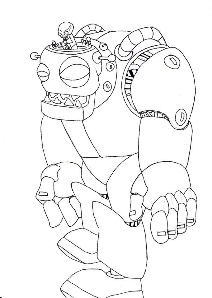 Plants Vs. Zombies Coloring Pages Kids Printable - 90672