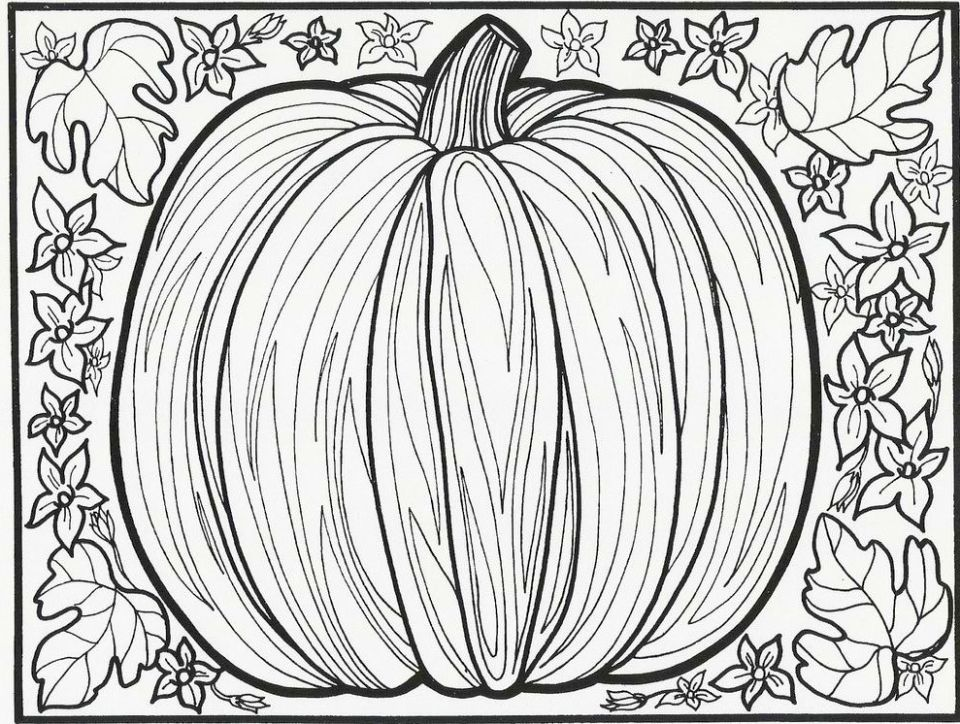 Pumpkin Coloring Pages for Adults Free - 316ca