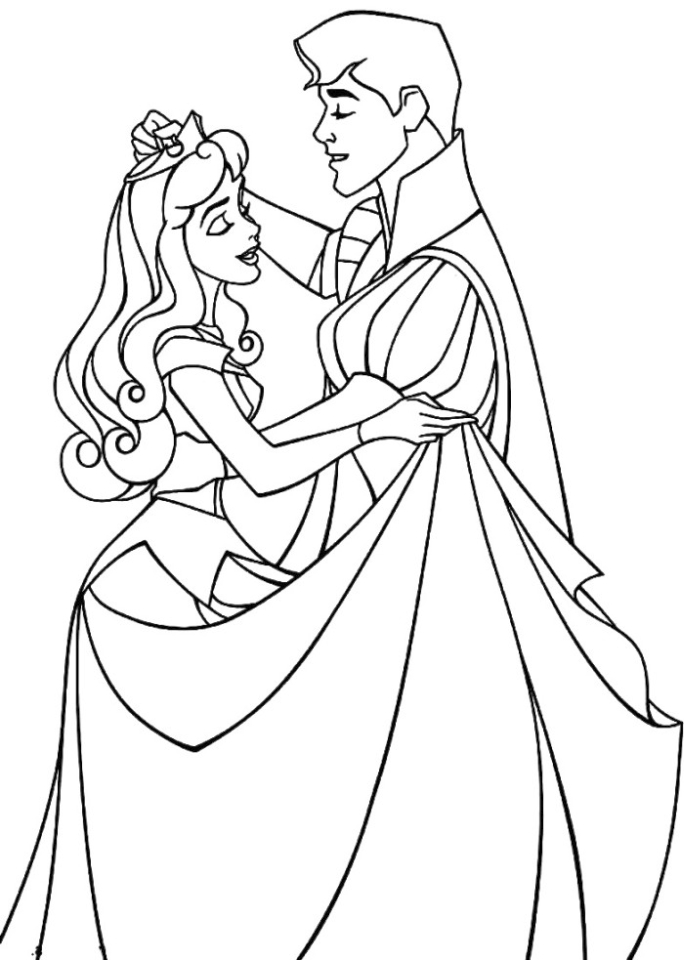 Sleeping Beauty Coloring Pages Free to Print - 1hro4
