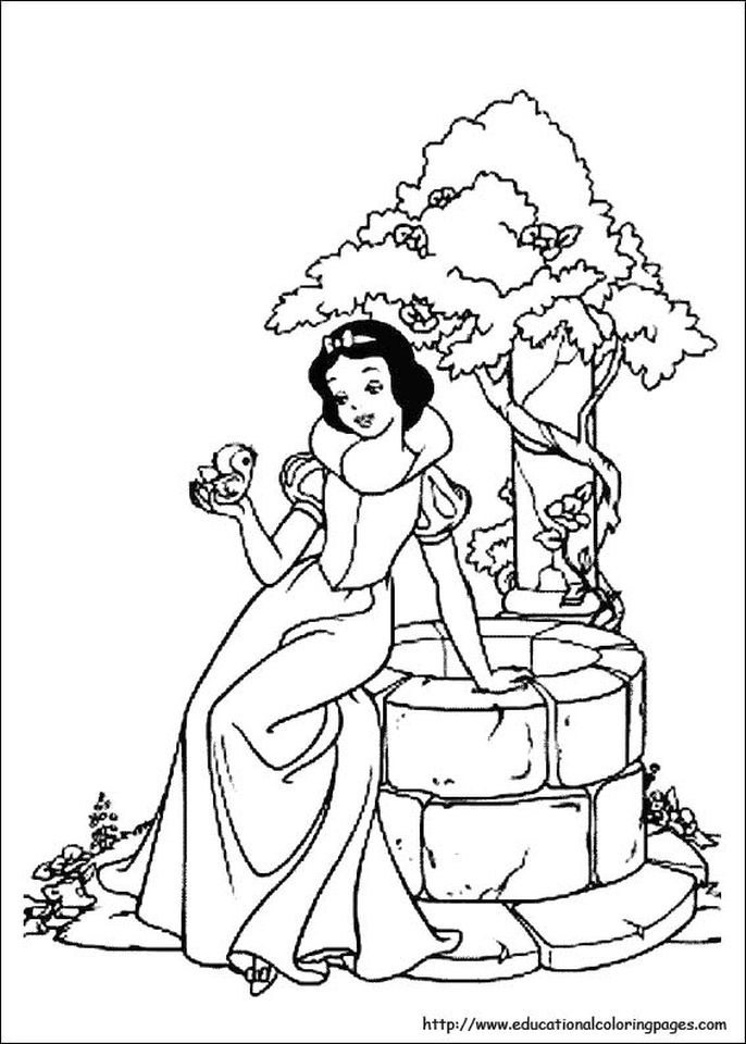 Snow White Coloring Pages Princess Printables - vc42x