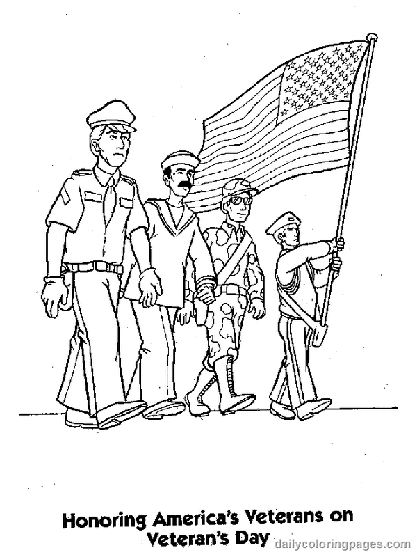 Veteran S Day Patriotic Coloring Pages Free