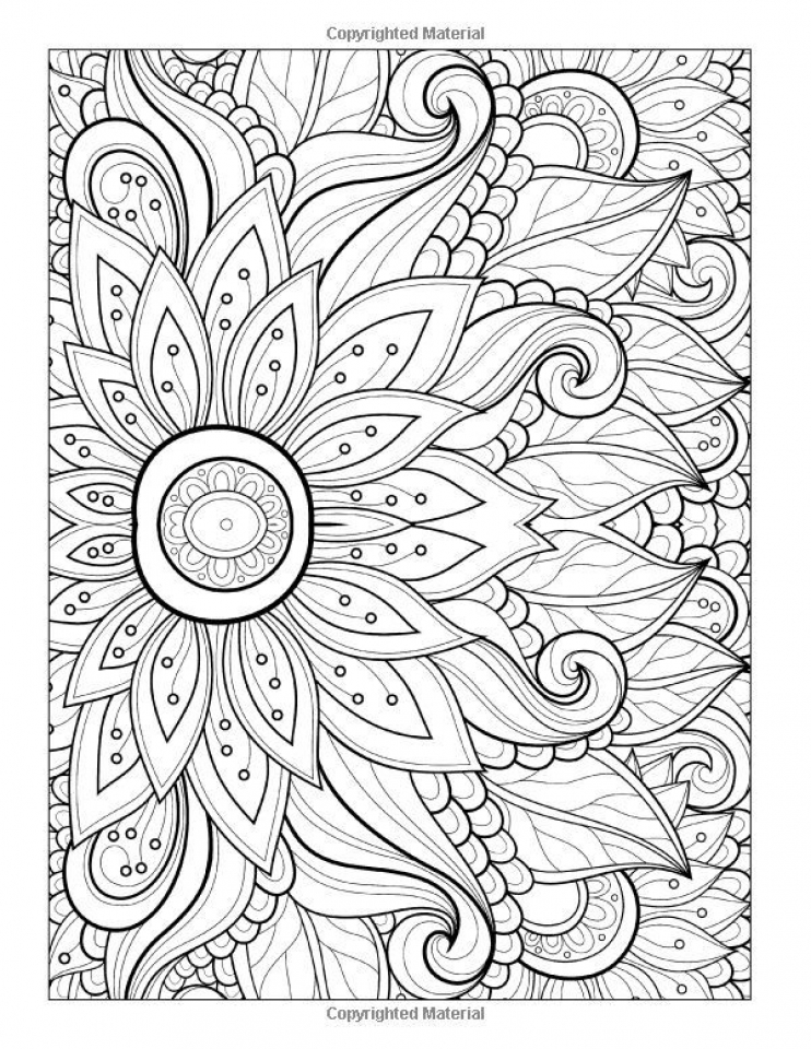 Abstract Flowers Coloring Pages for Adults   txc21