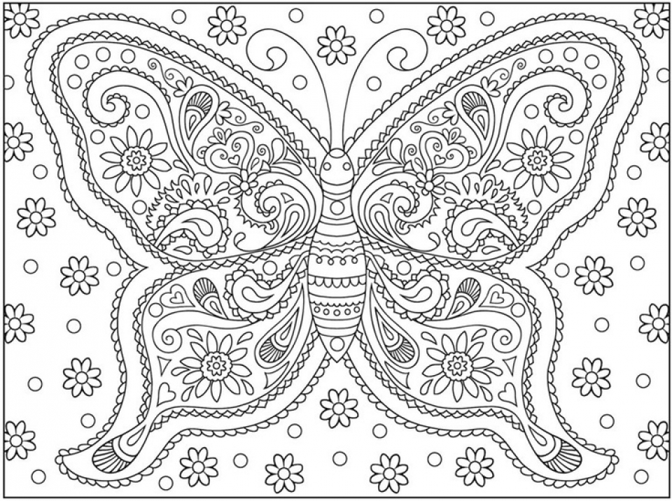 Adult Butterfly Coloring Pages to Print   78467