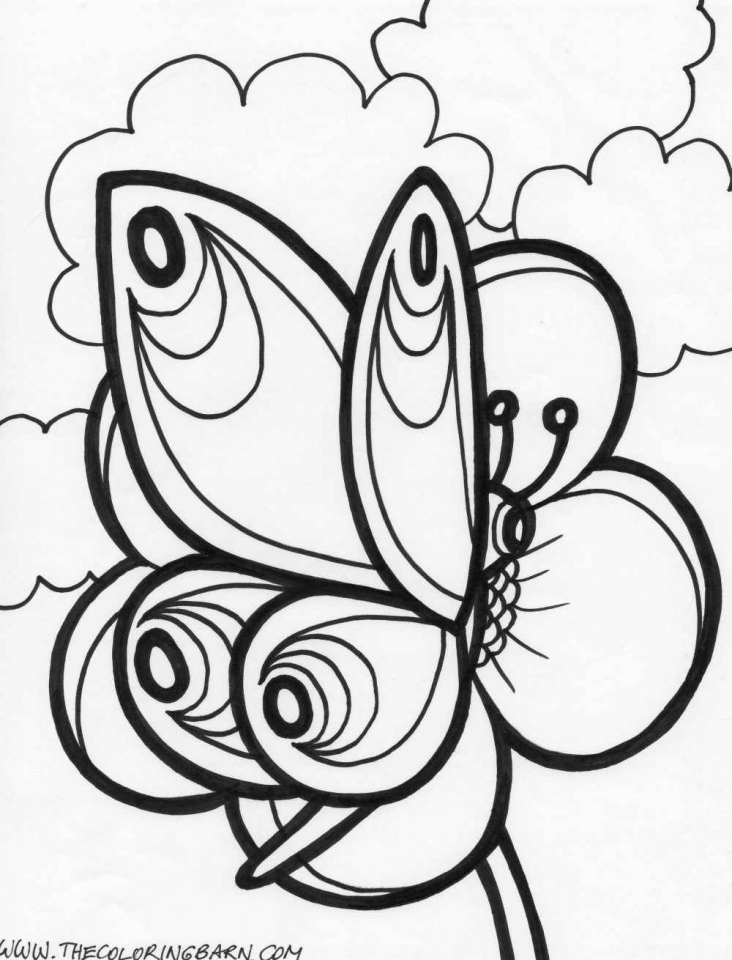 Get This Adult Coloring Pages of Butterfly Printable 6a74h !