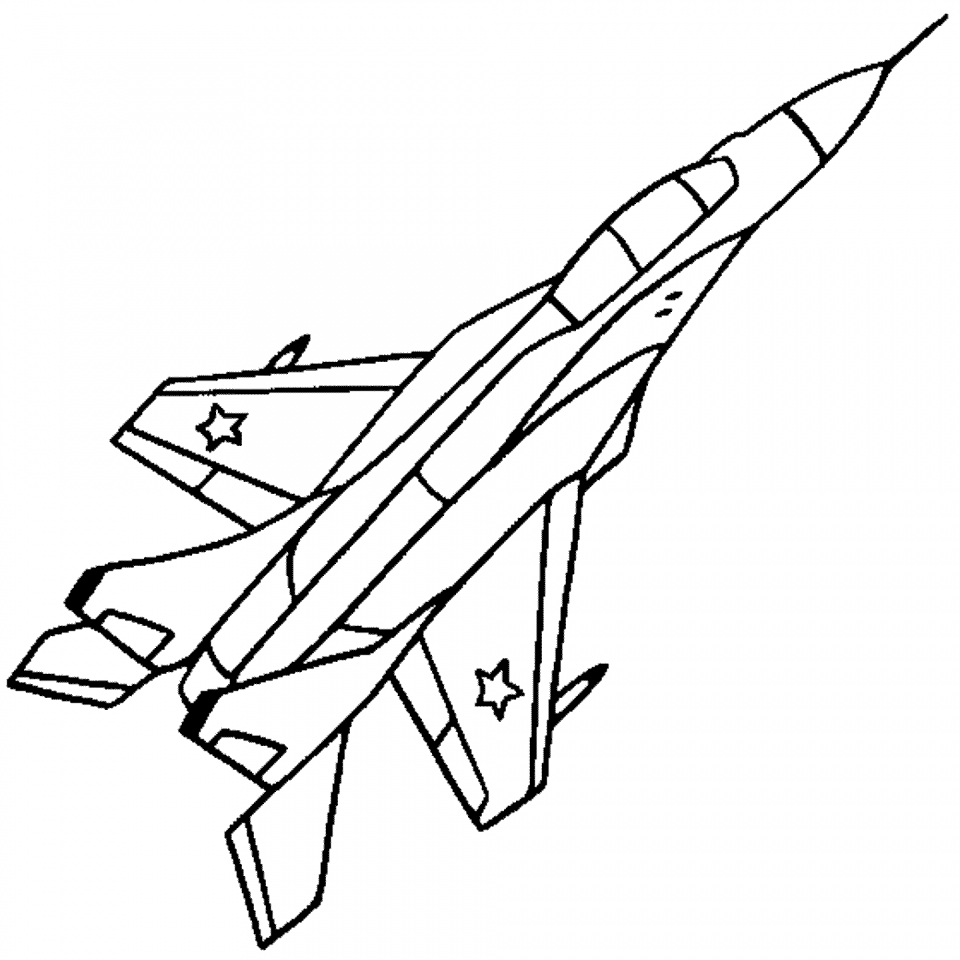 Airplane Coloring Pages Free Printable   07701