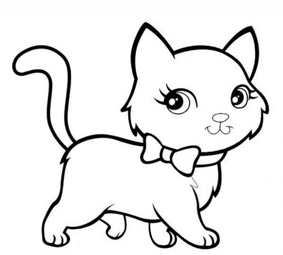 Baby Kitten Coloring Pages   84624