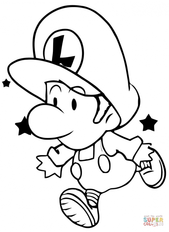 Baby Luigi in Mario Coloring Pages to Print   9nf62