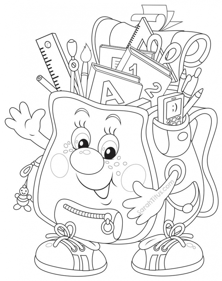 Get this back to school coloring pages printable yag40 for Back to school coloring pages printable