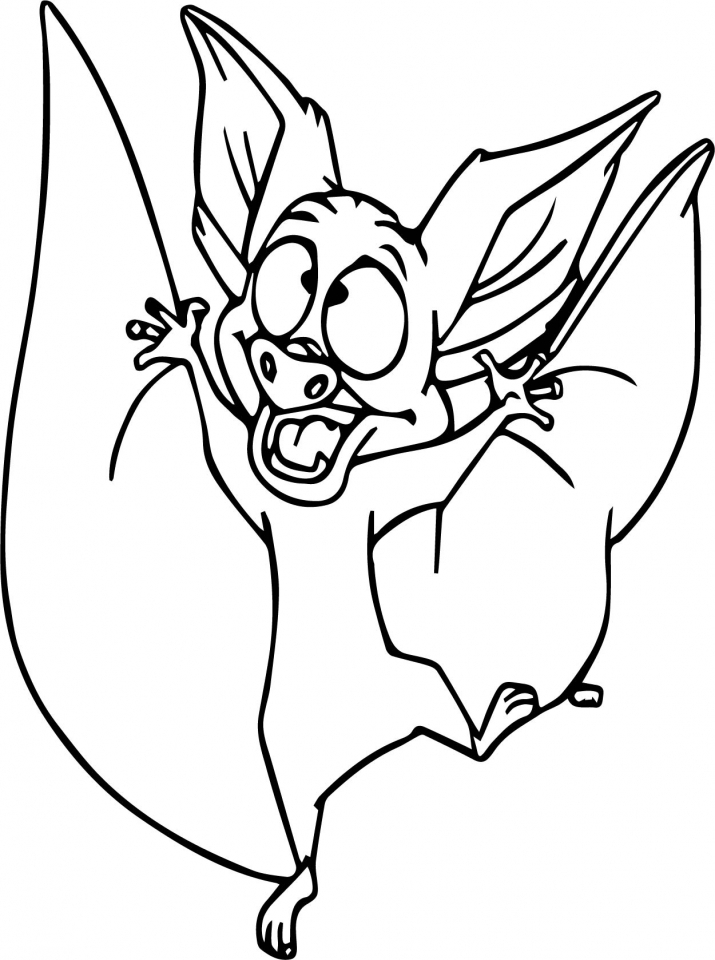 Bat coloring pages for toddlers   72191