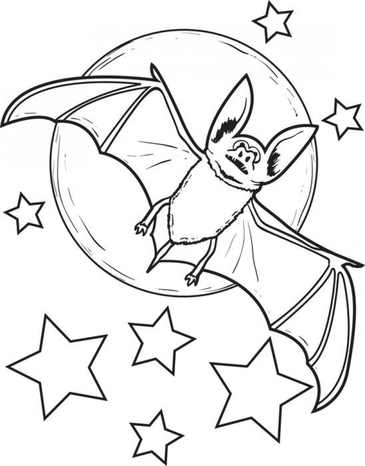 Get this bat coloring pages free 86783 for Printable bat coloring pages