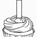 Birthday Cupcake Coloring Pages   09612