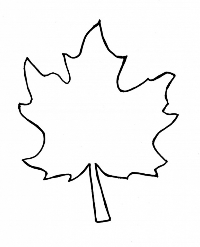 Blank Leaf Coloring Pages for Kids   utq93