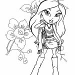 Bratz Dolls Coloring Pages   at492