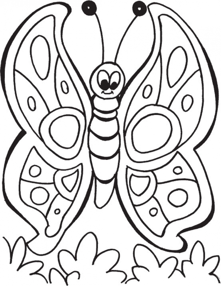 Butterfly Coloring Pages for Preschoolers   856cv