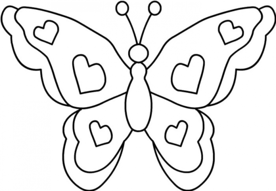 Butterfly Coloring Pages Free   3hfh6