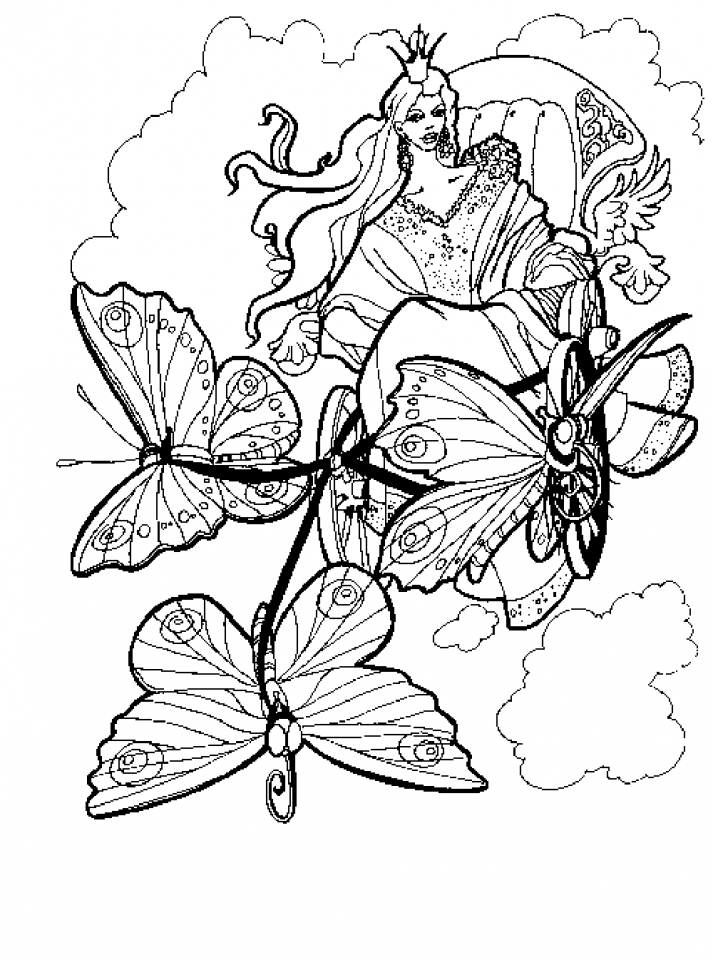 Butterfly Coloring Pages to Print for Adults   67491