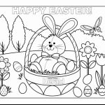 Cartoon Easter Bunny Coloring Pages for Kids   09571