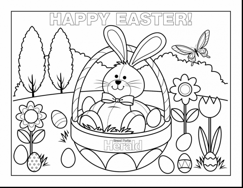 Get This Cartoon Easter Bunny Coloring Pages For Kids 09571
