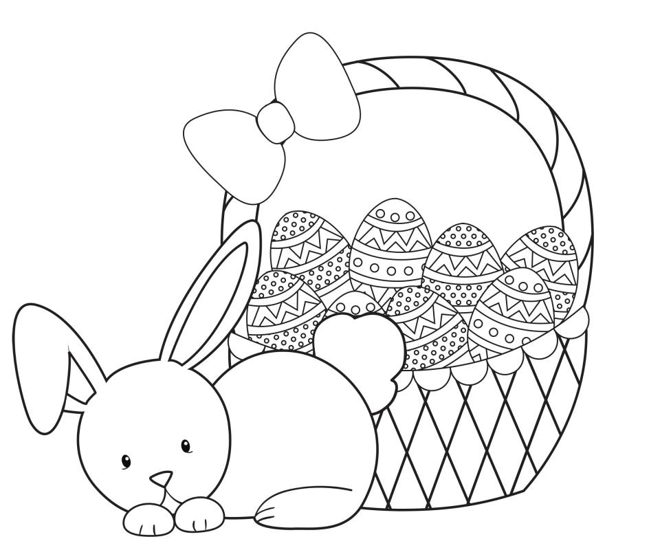 Cartoon Easter Bunny Coloring Pages for Kids   31750