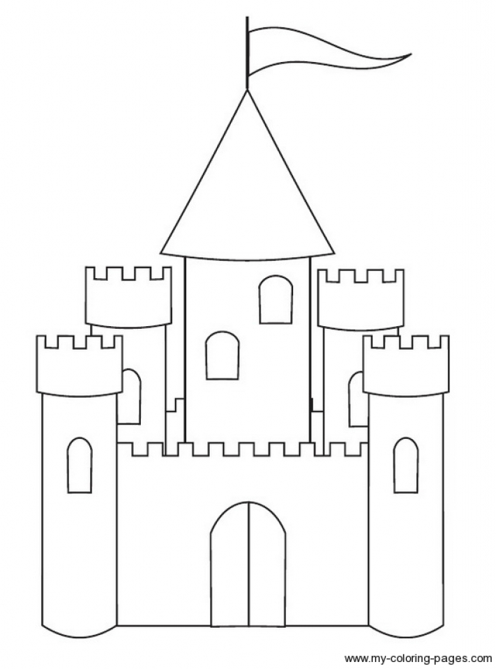 Castle Coloring Pages for Kids   g2bs7