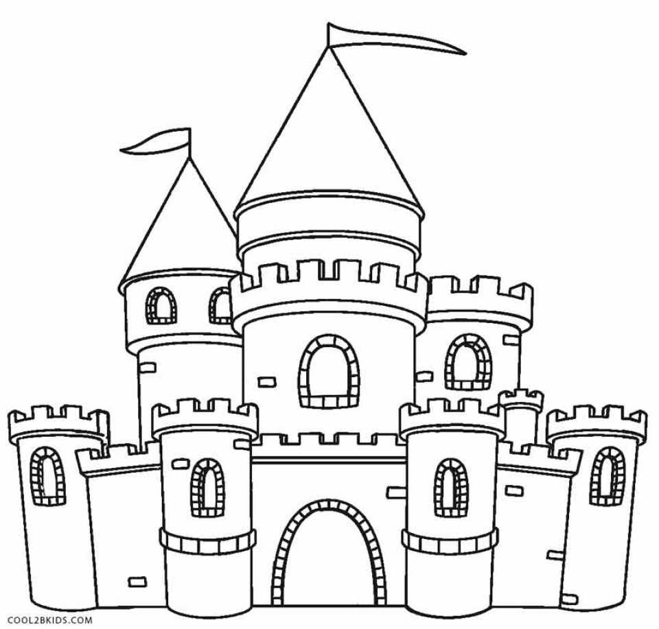 Castle Coloring Pages Free   7216