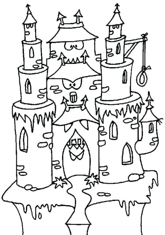 Castle Coloring Pages to Print for Free   631l0