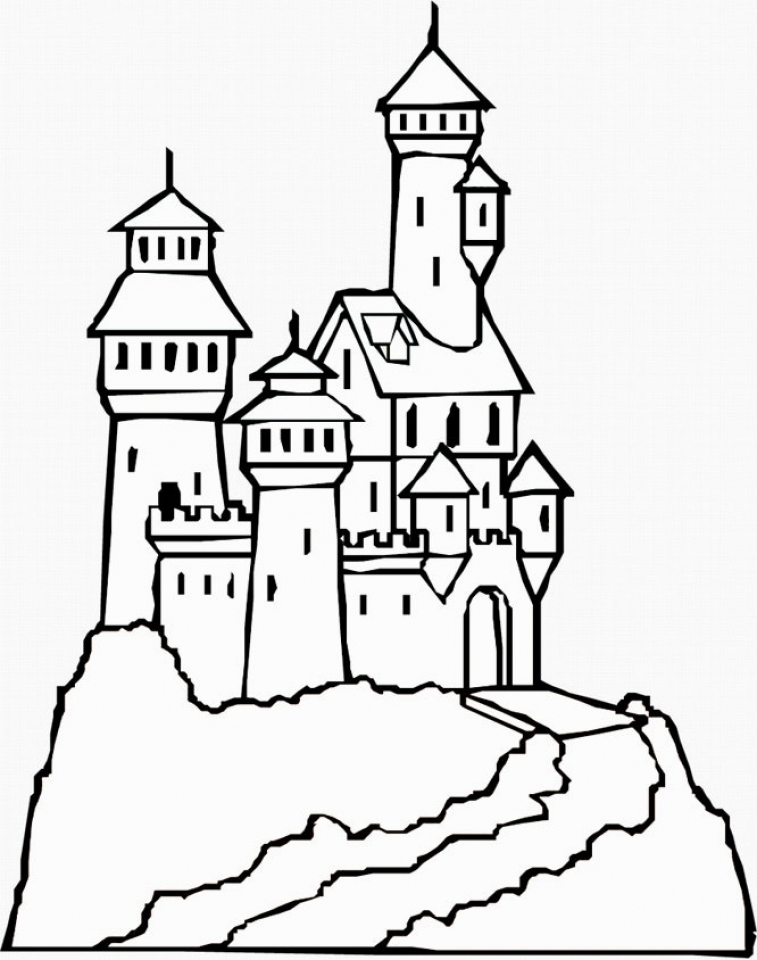 Castle Coloring Pages to Print Out   bx41n
