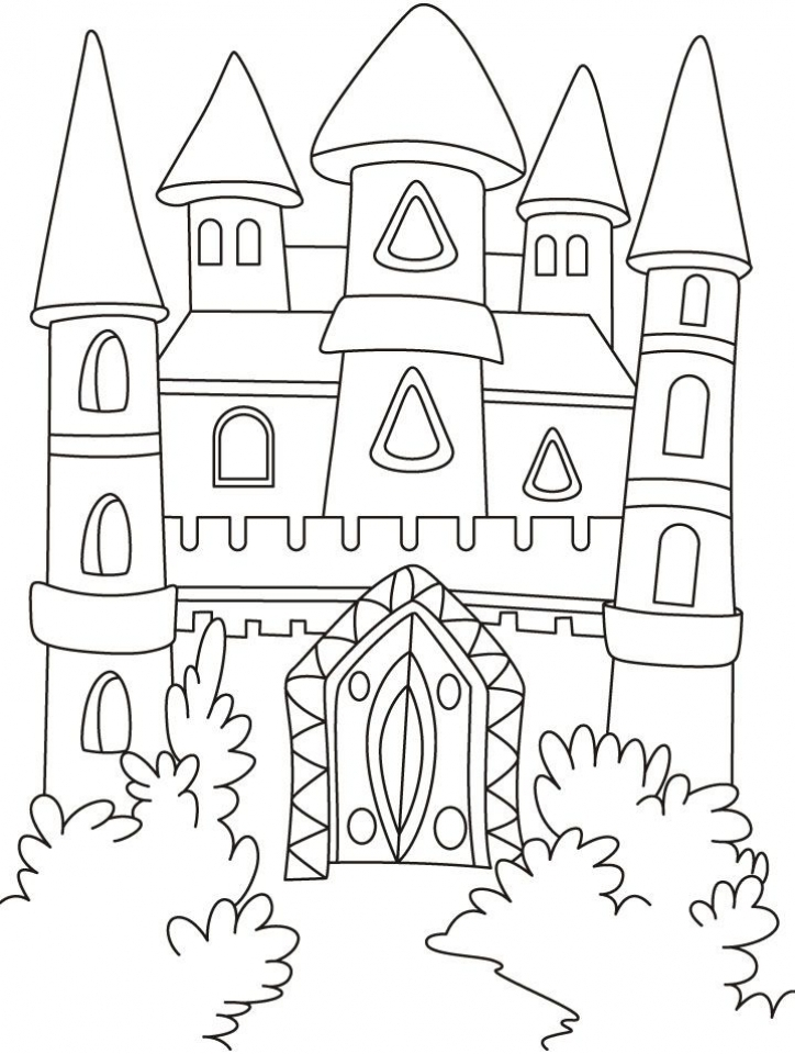 Castle Coloring Pages to Print Out   s7v53