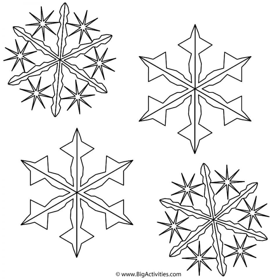 Get this christmas snowflake coloring pages 44852 for Snowflakes color pages