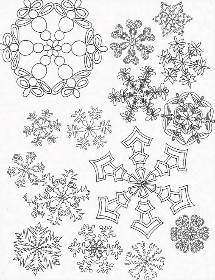 Christmas Snowflake Coloring Pages   48195