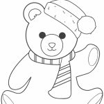 christmas teddy bear coloring pages   yagr7