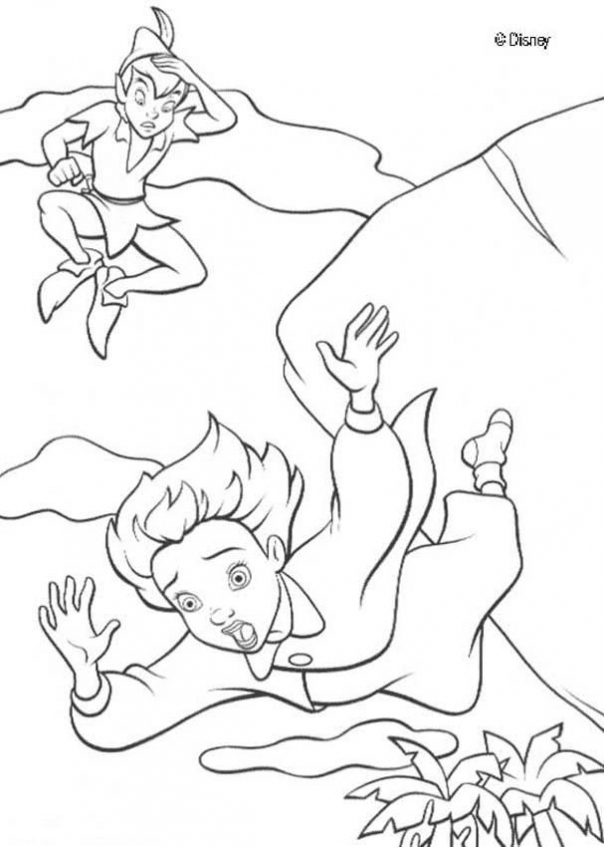 Coloring Pages of Peter Pan to Print   2hdyl