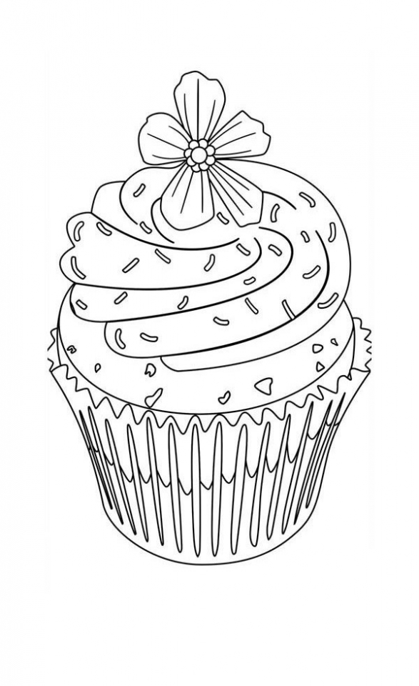 Cupcake Coloring Pages Free   21746