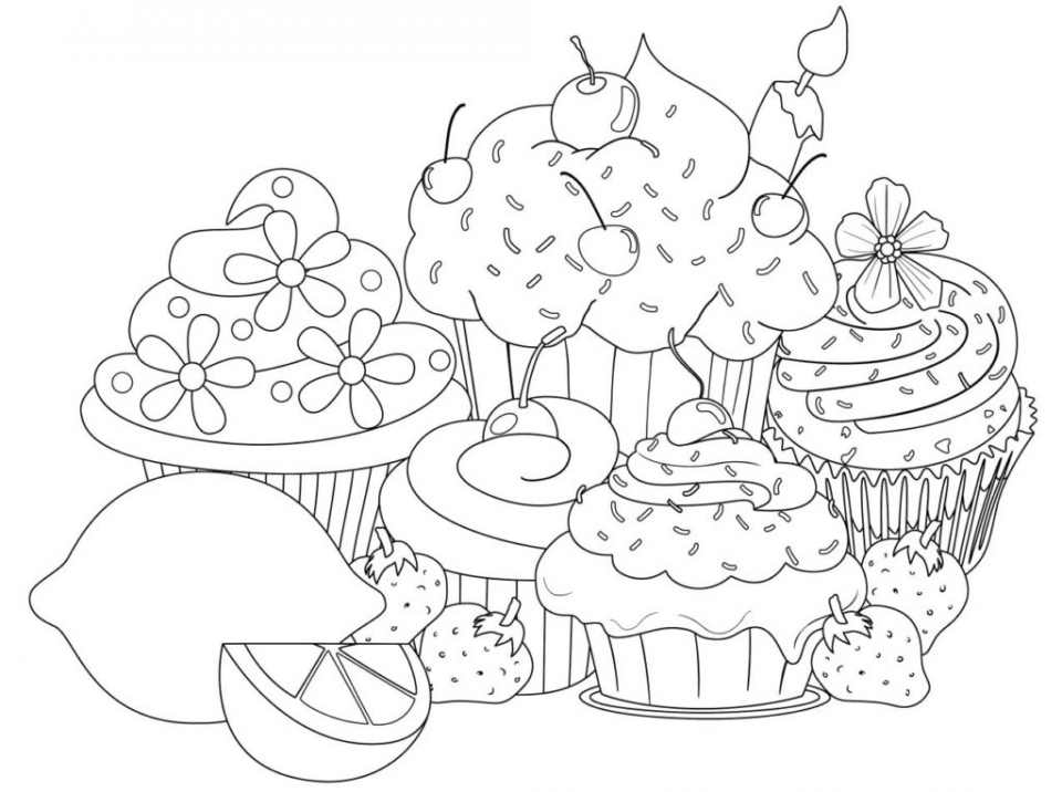 Cupcake Coloring Pages Free   67391