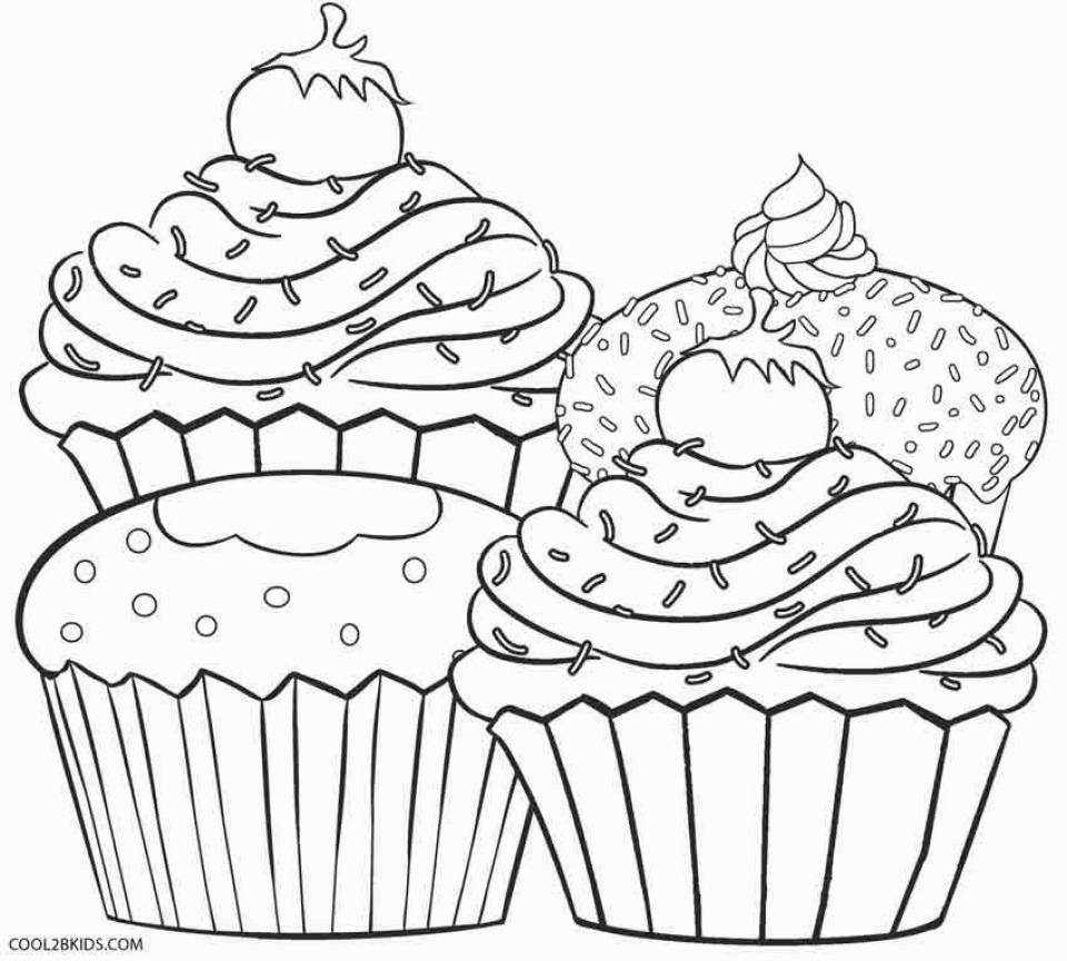 Cupcake Coloring Pages Free   74182