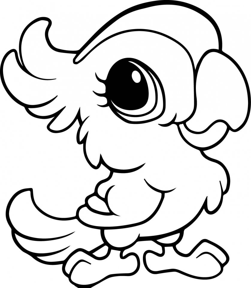 Effortless image inside cute animal coloring pages printable
