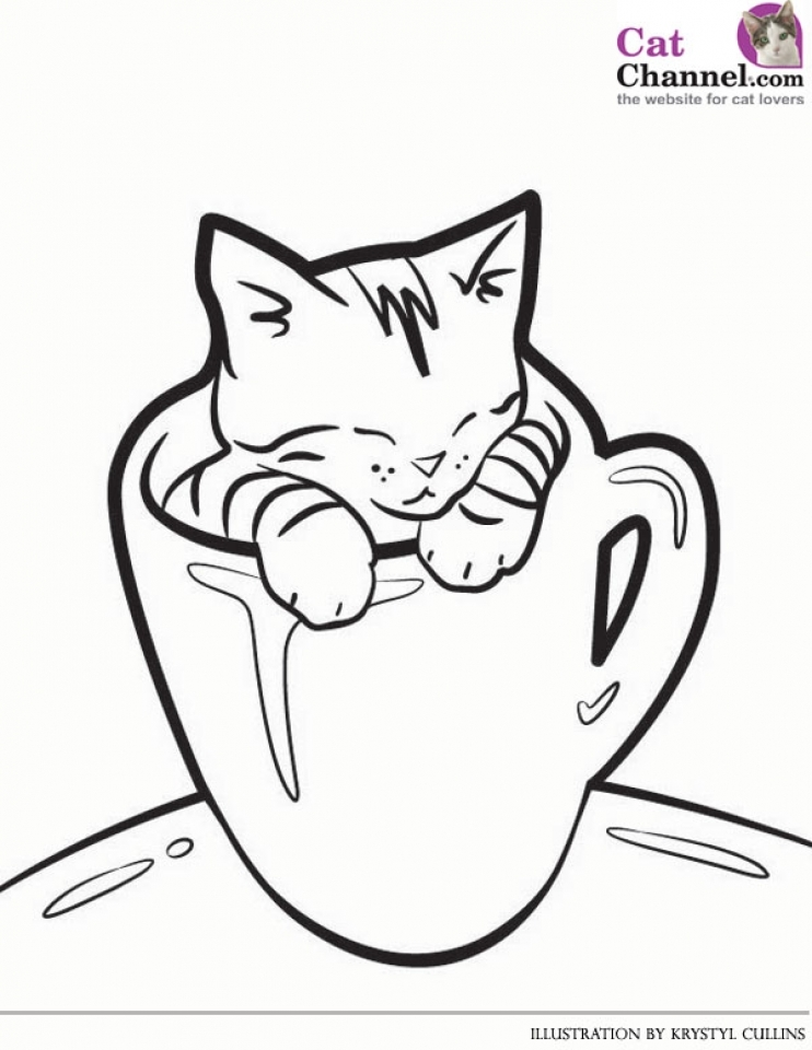 Get This Cute Kitten Coloring Pages Free Printable 67341