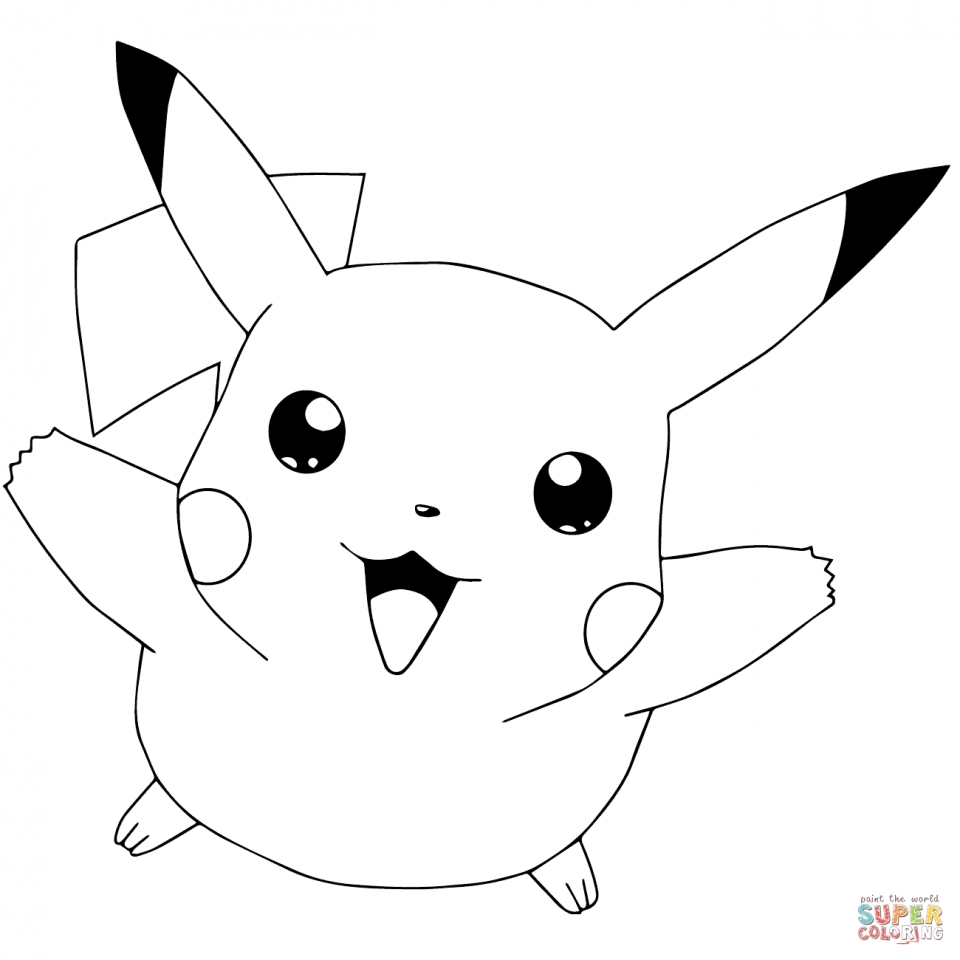 Cute Pikachu Coloring Pages   ys4h0