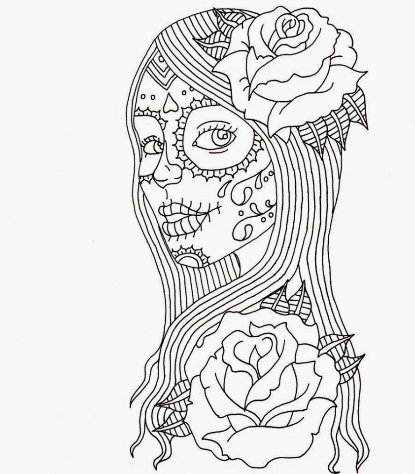 Day of the Dead Coloring Pages for Adults   7cbf4