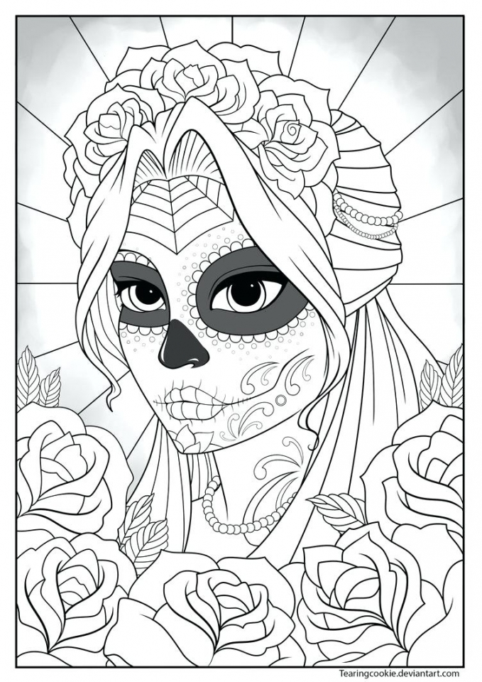 20+ Free Printable Day of the Dead Coloring Pages - EverFreeColoring.com