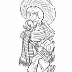 Day of the Dead Coloring Pages Free to Print   tc517