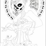 Day of the Dead Masks Coloring Pages   74192