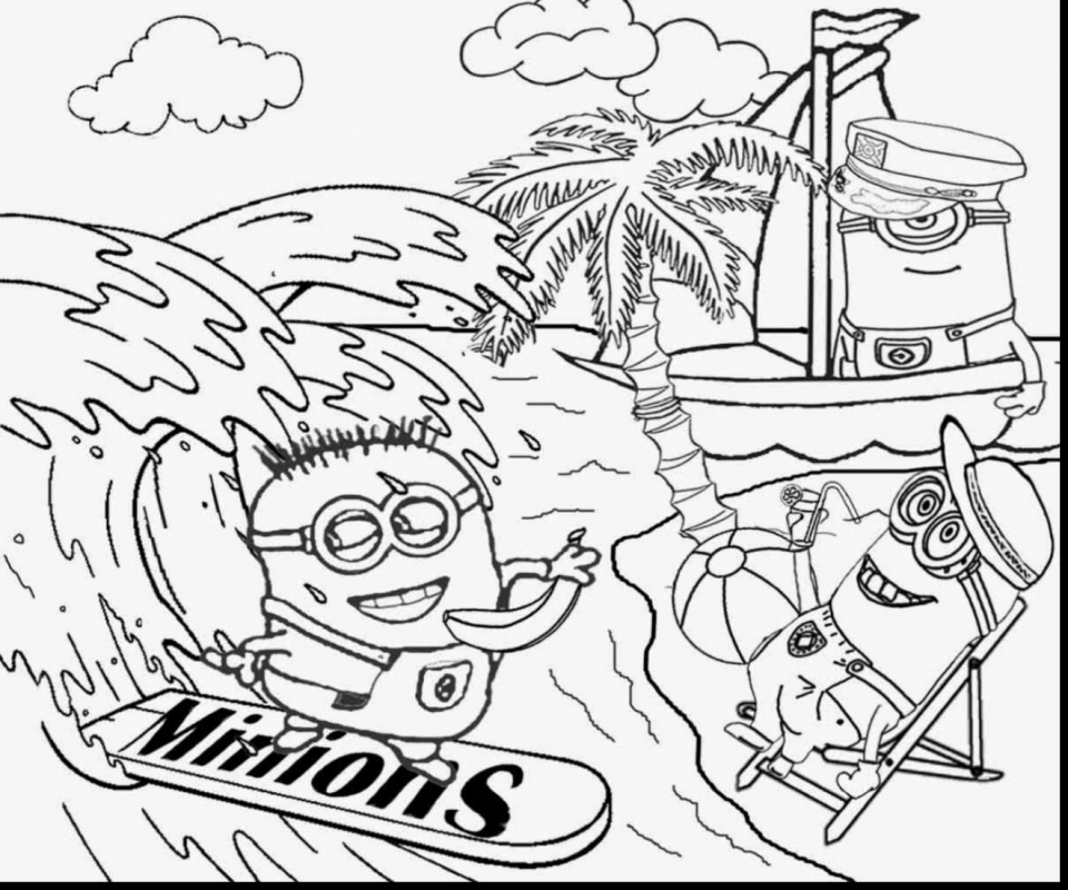 Get This Despicable Me Coloring Pages Online 7fg23