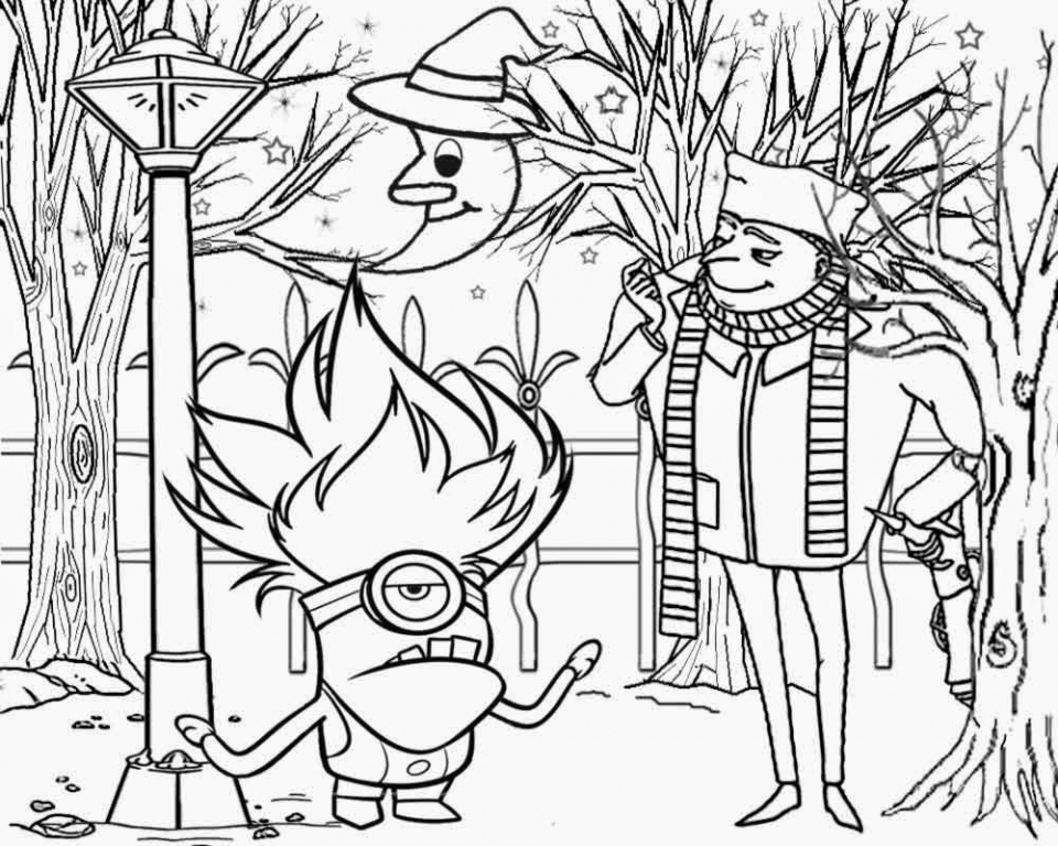 Get This Despicable Me Coloring Pages Online 8sm4o