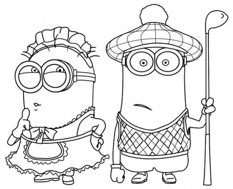 Printable Despicable Me Coloring Pages Cartoon