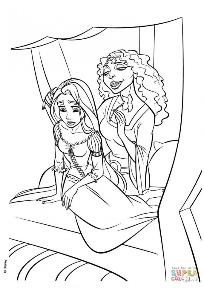 Disney Princess Tangled Coloring Pages   ufg571