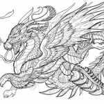 Dragon Coloring Pages for Adults Free Printable   wb5m7